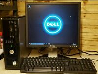 Windows 10 PC - Dell Optiplex 755 with monitor keyboard and mouse