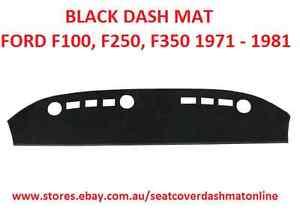 DASH MAT, DASHMAT,DASHBOARD COVER FIT  FORD F100, F250,F350 1971 - 1981, BLACK
