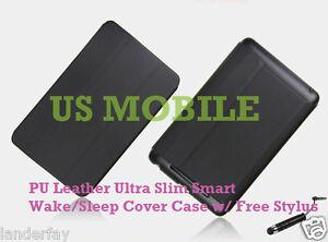 Google-Nexus-7-Slim-Magnetic-PU-Leather-Smart-Cover-Case-Stand-w-Stylus-Black