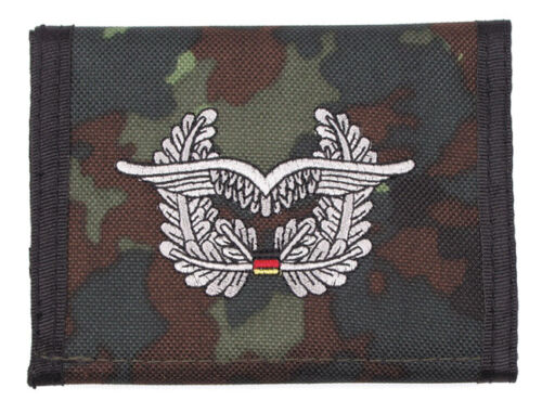 German Air Force Wings Camo Nylon Bifold Hook & Loop Wallet Embroidered Germany