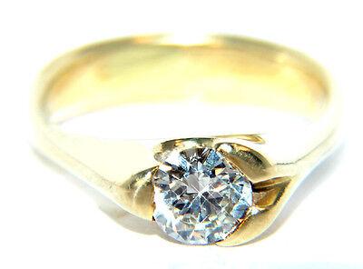 ca. 0,70 ct Gelbgold BRILLANT Verlobungsring Ehering RING GOLD 585 Weihnachten