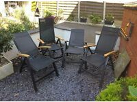 Set of 4 Recliner Garden Chairs