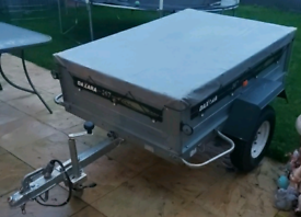 Daxara 147 Lightweight Tipping Trailer, With Cover And Jocky Wheel.