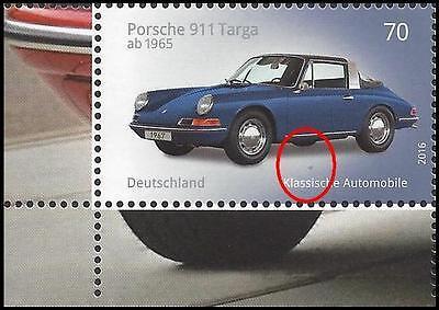 Porsche 911 Targa – Eckrand unten links – blauer Fleck unter Auto – Mi.Nr. 3201