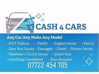 Cars Wanted Audi Bmw Mercedes Vauxhall Vw Renault Ford ETC MOT FAILURE FAULTY ONLY RUNNERS