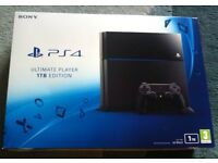 PS4 1TB and Controller and all original equipment!