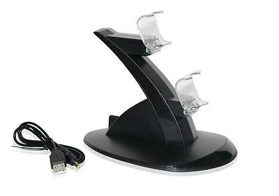 PlayStation PS4 Controller Dual USB Charging Stand LED Charger Dock Station