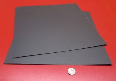 Polypropylene Sheet Black Formex Flame Retardant .040 X 12 X 12 2 Pieces