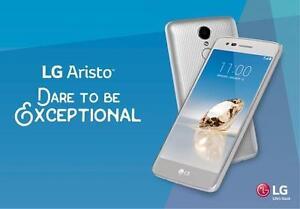 "LG Aristo ""Brand New,Unlocked,13MP & 5MP Camera, 16GB Memory w/Expandable Slot,Silver Color"" @ 159.99 $ ""4167229406"""