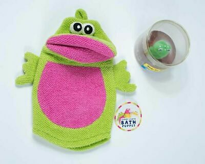 - FROG NWT CHILD TERRY CLOTH BATH PUPPET WASH CLOTH MITT & FROG TOY IN SOAP NEW
