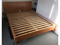 Kingsize bed frame - wooden, excellent condition