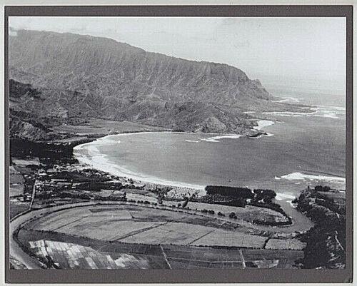 AERIAL OF HANALEI KAUAI 1930