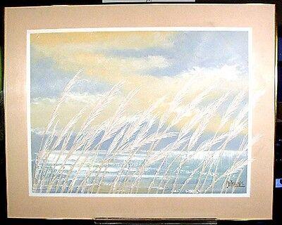 Lee Reynold Burrlarge Contemporary American Act California Ocean   Sea Oats