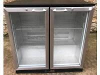 Double door under counter fridge
