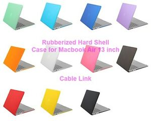 Matt Rubberized Hard Case Keyboard Skin Cover For MacBook Air 13