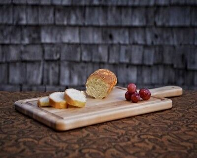 Maple wood Paddle Cutting Board-face grain Serving platter 20x10x3/4''