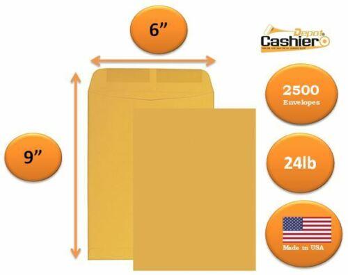 "6"" x 9"" Premium Catalog (Open End) Envelope, Brown Kraft, 5(500/Box)"