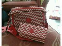 BRAND NEW KIPLING BAG AND PURSE