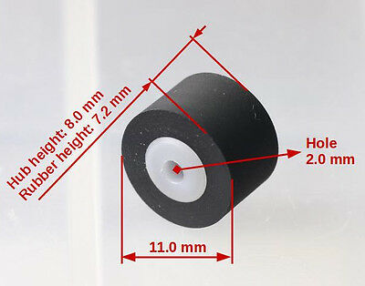 Left -source pinch roller for Nakamichi cassette decks based on Sankyo transport