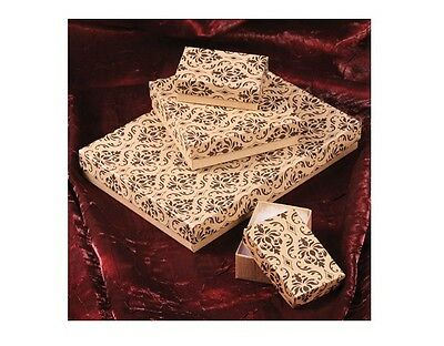 LOT of 20~50~100~500 Pc KRAFT DAMASK GIFT BOXES DAMASK COTTON FILLED BOX - Kraft Boxes