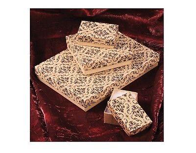 Kraft Damask Cotton Filled Jewelry Boxes Jewelry Gift Boxes Lot 20~50~100~500 Pc