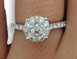 Bague de fiancaille Everly 0.71ct de diamants en or blanc 18k