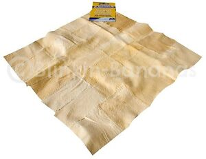 *NEW* NATURAL REAL LEATHER CHAMOIS SHAMMY CHAMMY CLOTH
