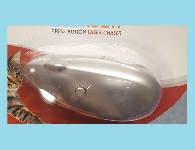 XMAS PRESS BUTTON MOUSE LASER CHASER CATS ENCOURAGE PET EXERCISE CHRISTMAS