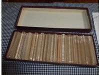 Boxed set of 12 knife rests in mint condition to grace your dinner table