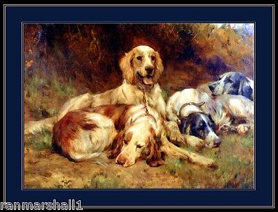 English Picture Print English Setter Dog Art Poster