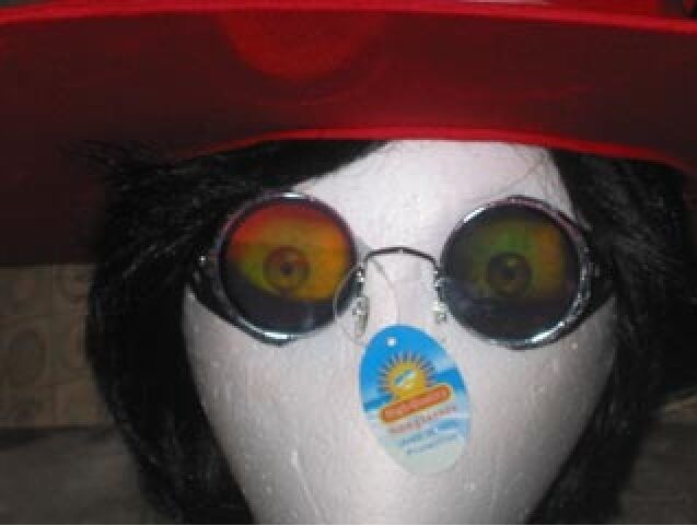 Alucard Glasses Costume Hologram Sun Glasses with blinders for Hellsing Cosplay