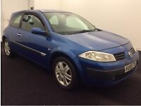 2005 (55) RENAULT MEGANE 1.6 DYNAMIQUE SPORT 3DR HATCHBACK,ECONOMICAL,1 YR'S,ALLOYS,BARGAIN