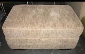 Large fabric storage Footstool pouffe