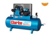 Clarke 200 litre compressor 3-phase
