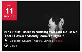 NICK HELM. 11th Nov @ Leicester Square Theatre Sold Out stand up gig