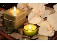 Swedish massage Indian head massage Hopi ear candling