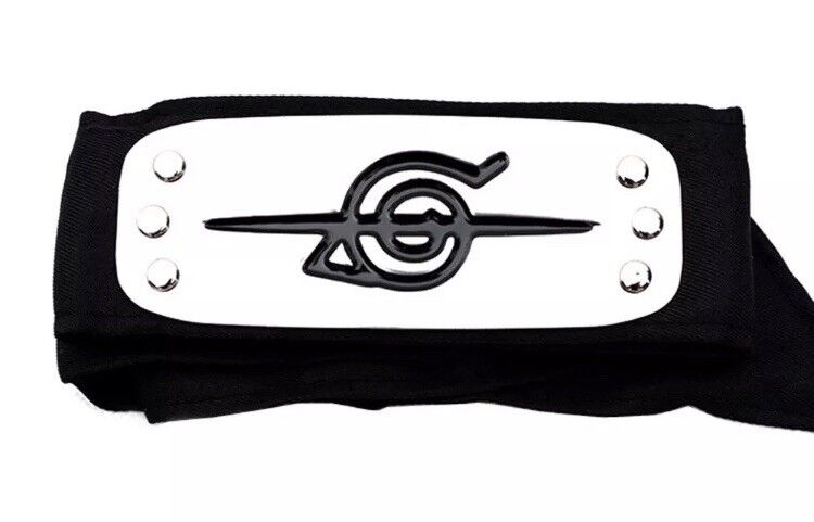 "Naruto Itachi Uchiha Akatsuki Shinobi Headband Cosplay Anime 37"" US Seller"