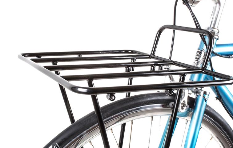 Mini Vorderrad Gepäckträger Frontträger Vorne verchromt mit Fahrrad Korb chrom