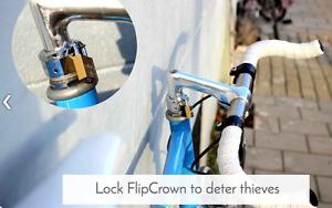 Flipcrown attachement that allows for rotation of handlebars