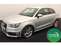 £219.66 PER MONTH SILVER 2012 AUDI A1 1.6 TDI S LINE 3 DOOR DIESEL MANUAL