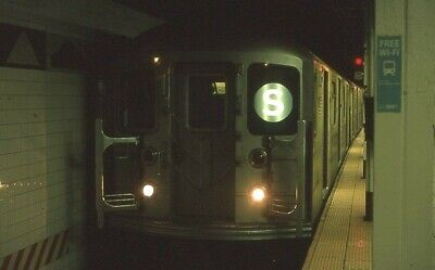 NYCTA slide. R62A subway train at Grand Central station. 42nd Street shuttle