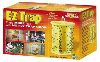 NEW EZ-TRAP 3004323 CASE OF 2 LARGE STICKY FLY INSECT GLUE