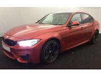 Orange BMW M3 3.0 M DCT 2016 M3 FROM £155 PER WEEK!