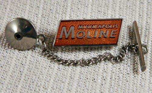 Minneapolis Moline Tie Tack Pin and Chain Clasp