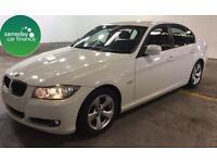 £224.97 PER MONTH WHITE 2011 BMW 320D 2.0 EFFICIENTDYNAMICS 4 DOOR DIESEL MANUAL