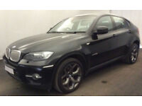Black BMW X6 3.0TD auto 2010 xDrive35d FROM £67 PER WEEK!