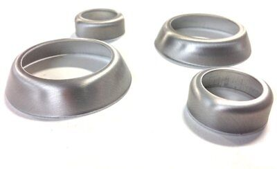 2014-19 Corvette Dash Knob Trim Ring Brushed Aluminum Brushed Aluminum Trim Ring