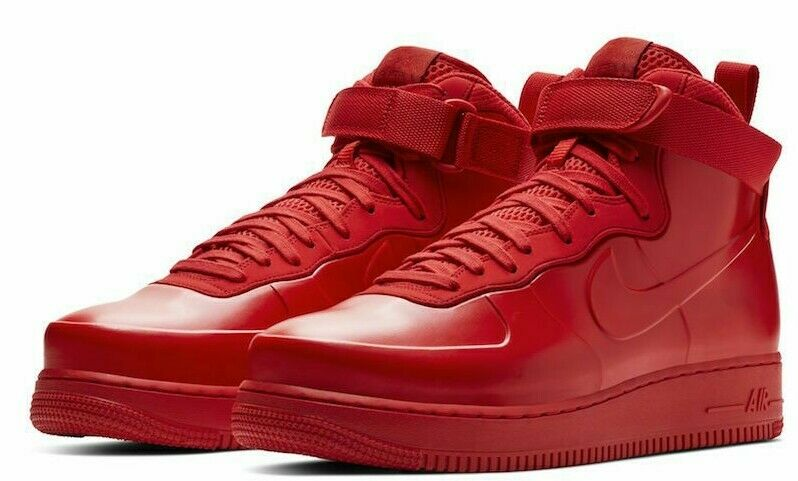 Nike Air Force 1 Foamposite BV1172 600 Men's Shoe UNIVERSITY REDBLACK sz 7.5 13