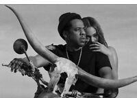 2 Jay-z Beyoncé Tickets - 13 June Etihad Stadium
