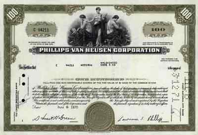 Phillips Van Heusen PVH 1970 New York Calvin Klein Tommy Hilfiger Date 6. August